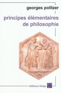 Principes élémentaires de philosophie
