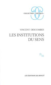 Les institutions du sens
