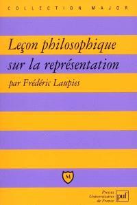 Leçon philosophique sur la représentation