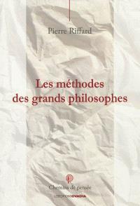 Les grandes méthodes des philosophes