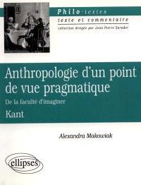 Anthropologie d'un point de vue pragmatique, de la faculté d'imaginer, Kant