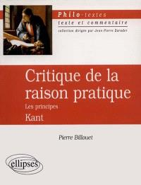 Critique de la raison pratique, les principes, Kant