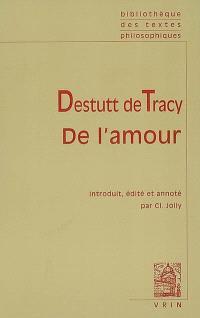 De l'amour : texte original en langue française