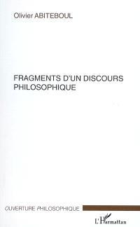 Fragments d'un discours philosophique