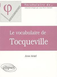 Le vocabulaire de Tocqueville