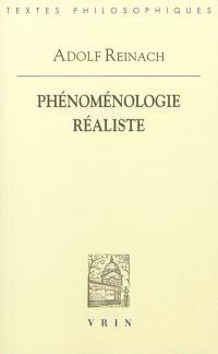 Phénoménologie réaliste