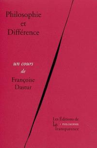 Philosophie et différence
