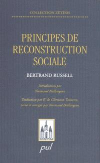 Principes de reconstruction sociale