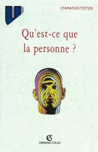 Qu'est-ce que la personne ?