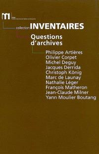 Questions d'archives