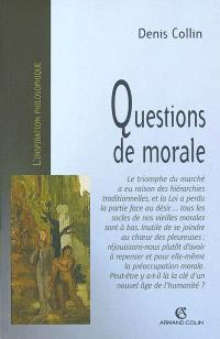 Questions de morale