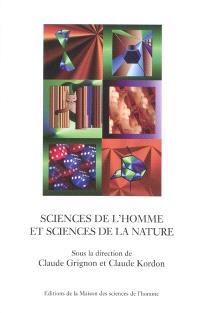 Sciences de l'homme et sciences de la nature : essais d'épistémologie comparée