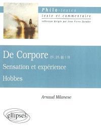 Sensation et expérience, Thomas Hobbes : De corpore (IV, 25, 1-9)
