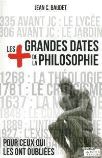 Les + grandes dates de la philosophie : pour ceux qui les ont oubliées