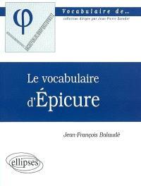 Le vocabulaire d'Epicure
