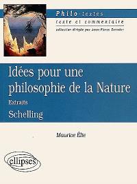 Idées pour une philosophie de la nature, Schelling : extraits