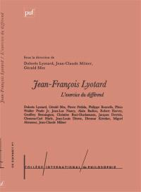 L'exercice du différend : Jean-François Lyotard
