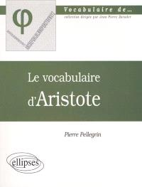 Le vocabulaire d'Aristote