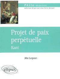 Vers la paix perpétuelle, Kant