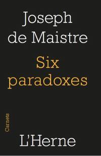 Six paradoxes à madame la marquise de Nav...