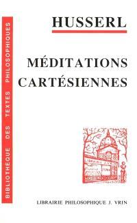 Méditations cartésiennes : introduction à la phénoménologie