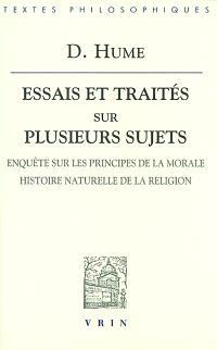 Essais et traités sur plusieurs sujets. Volume 4, Enquête sur les principes de la morale