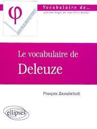 Le vocabulaire de Deleuze