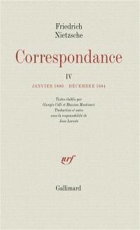 Correspondance. Volume 4, Janvier 1880-décembre 1884