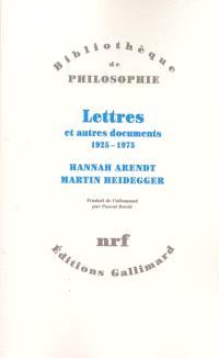 Lettres et autres documents : 1925-1975