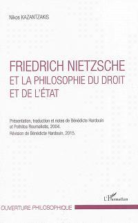 Friedrich Nietzsche et la philosophie du droit et de l'Etat