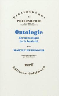 Ontologie : herméneutique de la factivité