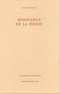 Résistance de la poésie