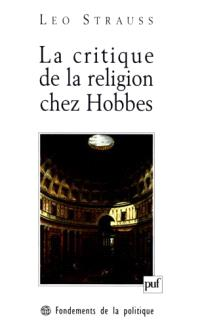 La critique de la religion chez Hobbes : une contribution à la compréhension des Lumières : 1933-1934
