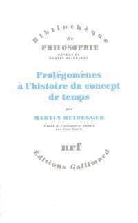 Prolégomènes à l'histoire du concept de temps
