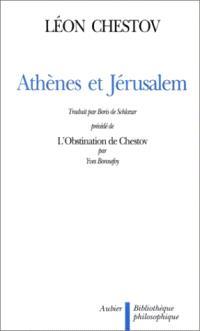 Athènes et Jérusalem : un essai de philosophie religieuse