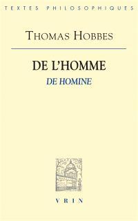 De l'homme = De homine