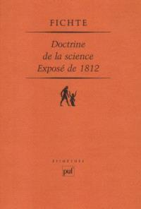 Doctrine de la science, exposé de 1812
