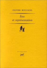 Etre et représentation : une généalogie de la métaphysique moderne à l'époque de Duns Scot, XIIIe-XIVe siècle