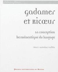 Gadamer et Ricoeur : la conception herméneutique du langage