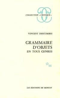 Grammaire d'objets en tous genres