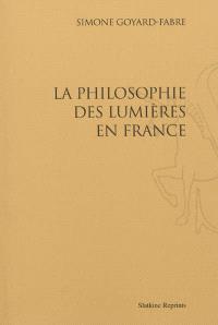 La philosophie des Lumières en France