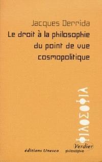 Le droit à la philosophie du point de vue cosmopolitique