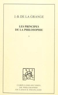 Les principes de la philosophie. Volume 1, Traité des qualités