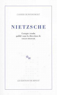 Nietzsche : colloque de Royaumont
