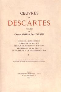 Oeuvres complètes. Volume 10