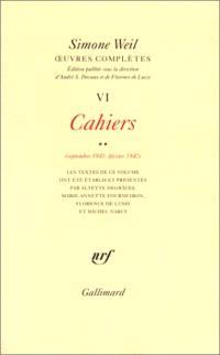 Oeuvres complètes, Volume 6, Cahiers. Volume 2, Septembre 1941-février 1942