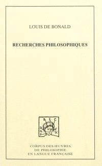 Recherches philosophiques sur les premiers objets des connaissances morales