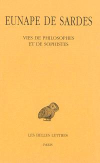 Vies de philosophes et de sophistes