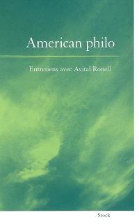 American philo : entretiens avec Anne Dufourmantelle