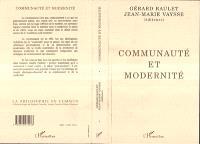 Communauté et modernité